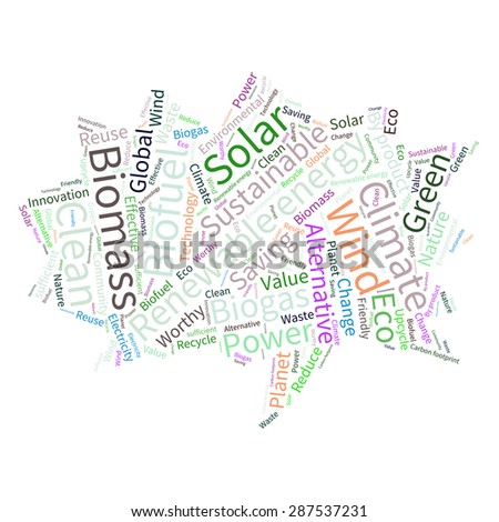 Word Collage Template. ecology earth concept word collage ...