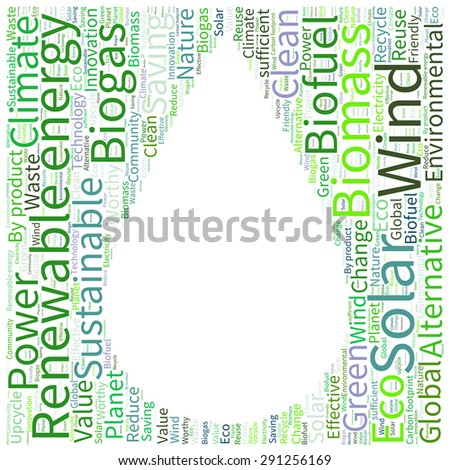 Ecology Earth Concept Word Collage Stock Vector 287384279 ...
