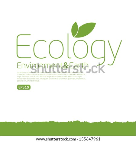 Ecology Eco.Think Green. Concept. - stock vector