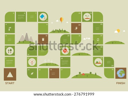 Ecology game. Vector illustration - stock vector
