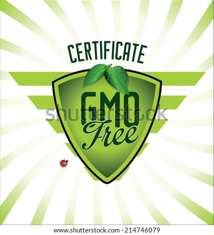 Ecology GMO free background - stock vector