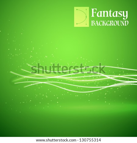 Ecology green background. Vector illustration, contains transparencies, gradients and effects.