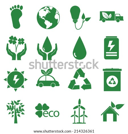 ecology green icon, vector isolate