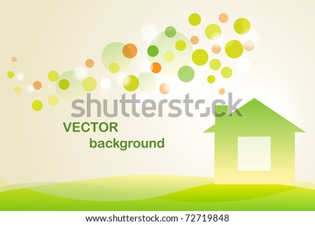 Ecology house - stock vector