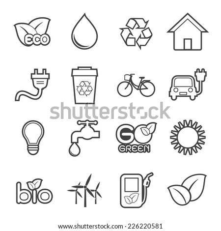 Ecology icon - stock vector