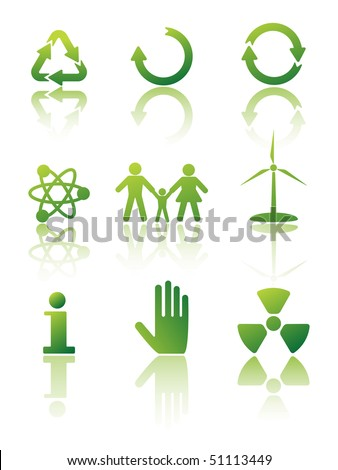 Ecology - icon set - stock vector