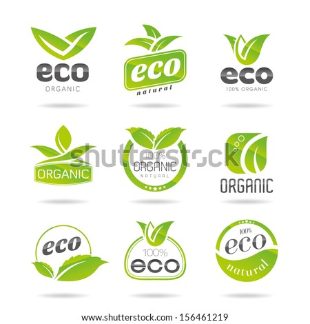 Ecology icon set. Eco-icons - stock vector