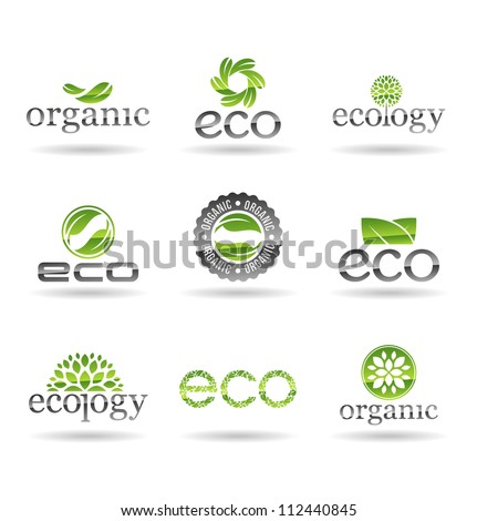 Ecology icon set. Eco-icons. Vol 5. - stock vector