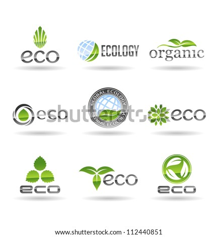 Ecology icon set. Eco-icons. Vol 7. - stock vector