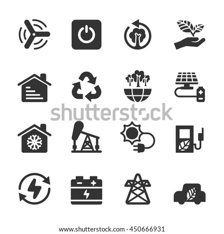 ecology icon set 8, vector eps10.