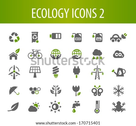 Ecology Icons 2. - stock vector
