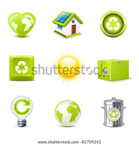 Ecology icons | Bella series 1 - stock vector
