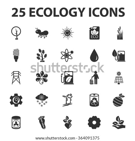 Ecology icons set.  - stock vector