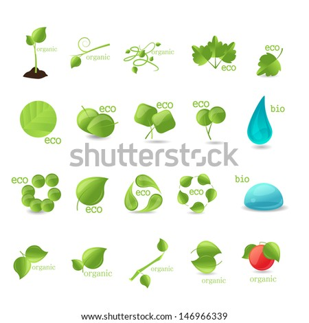 Ecology Icons Set - Isolated On White Background - Vector illustration, Graphic Design Editable For Your Design. Eco Logo - stock vector