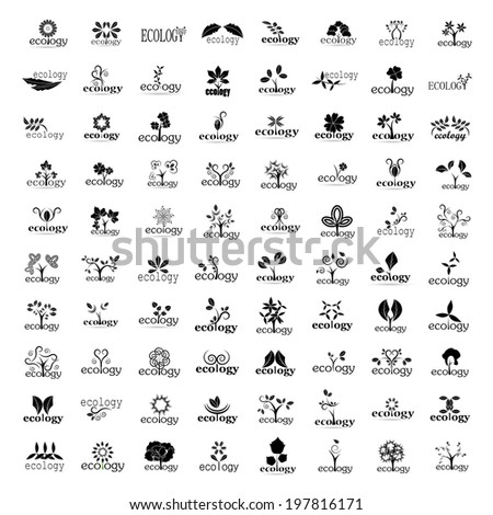 Ecology Icons Set - Isolated On White Background - Vector Illustration, Graphic Design Editable For Your Design - stock vector