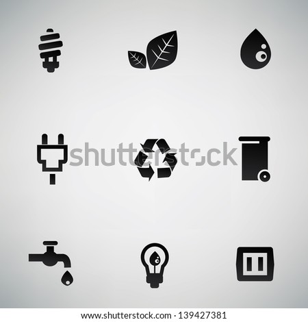 Ecology icons,vector - stock vector