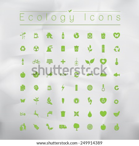 Ecology icons. Vector illustration. - stock vector