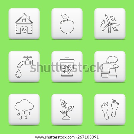 Ecology icons, web buttons