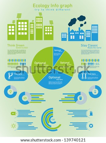 Ecology info chart - stock vector