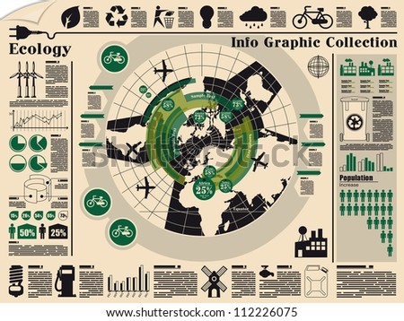 ecology info graphic,vector elements - stock vector