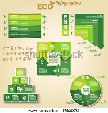 Ecology Infographic element - stock vector