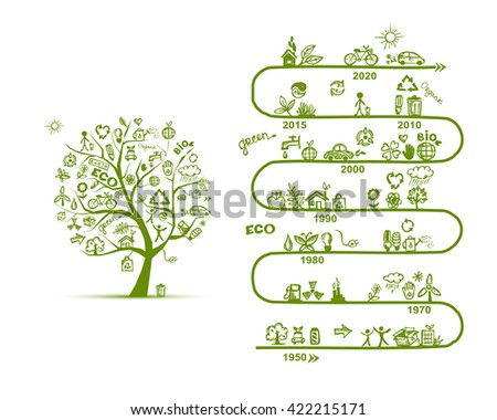 Ecology infographics, sketch for yuor design - stock vector