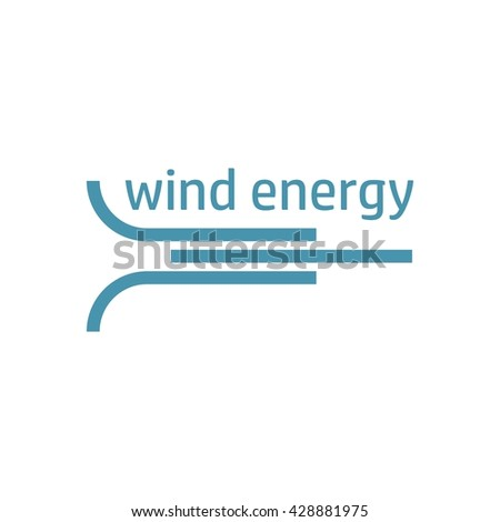 Ecology logo, green logo with solar energy, wind energy and water energy icons. Eco logo for info graphics. Ecology concept. Objects isolated on a white background. Flat vector illustration.