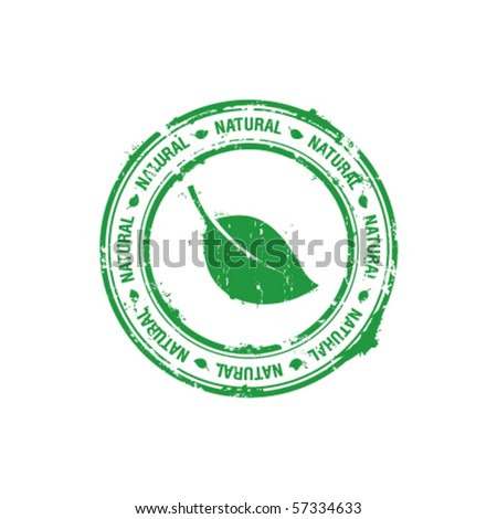 ecology natural stamp - stock vector