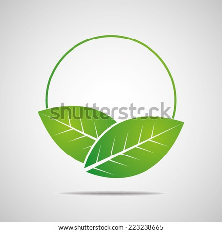 Ecology, organic with leafs  - stock vector