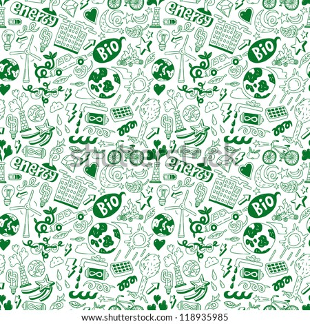 ecology - seamless background - stock vector