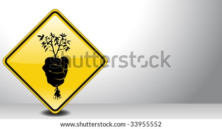 ecology sign - stock vector