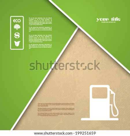 ecology signs and symbols on a textured background - stock vector