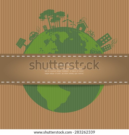 Ecology template. Vector illustration EPS 10 - stock vector