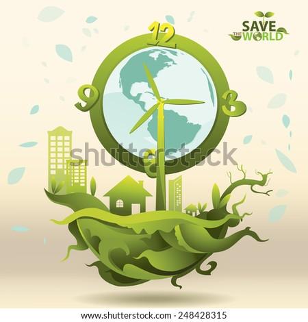 Ecology Thai Art Vector - stock vector