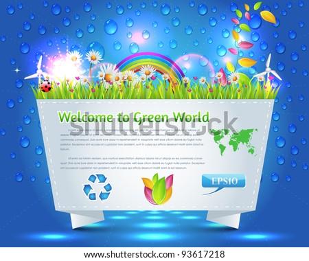 Ecology Theme Vector - stock vector