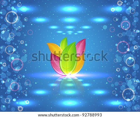 Ecology Theme Vector Design - stock vector