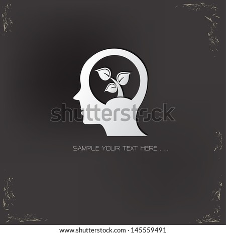 Ecology thinking  symbol,vector - stock vector