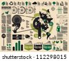 ecology vector elements, cycling info graphic - stock vector