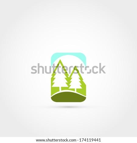 Ecology vector symbol - stock vector