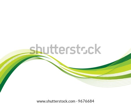 Ecology wave - stock vector