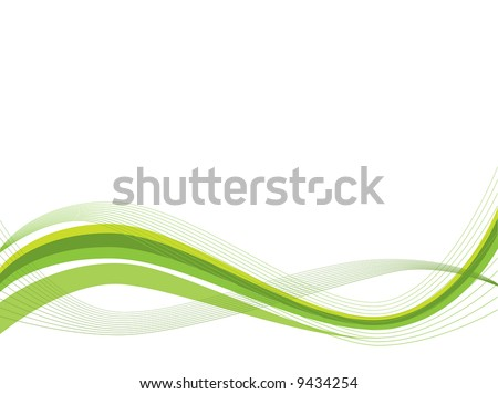 Ecology wave background - stock vector