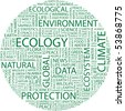 ECOLOGY. Word collage on white background. Vector illustration. - stock vector