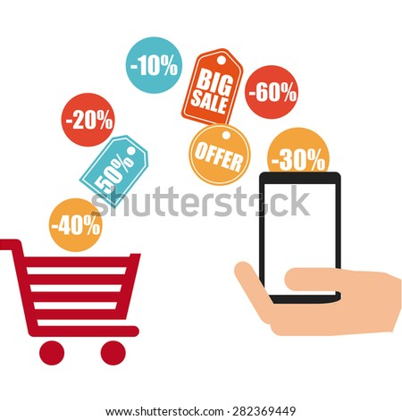 ecommerrce business design, vector illustration eps10 graphic