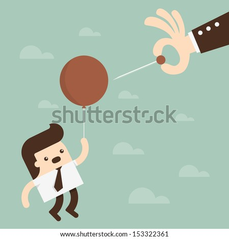 Economic Bubble  - stock vector