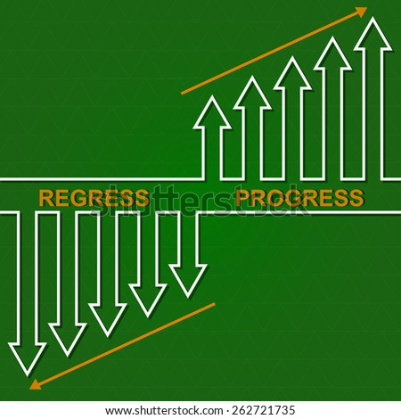 Economic downturn and the rise. Business fall diagram illustration - stock vector