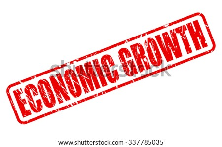 ECONOMIC GROWTH red stamp text on white - stock vector