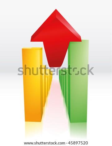 economic recovery - stock vector