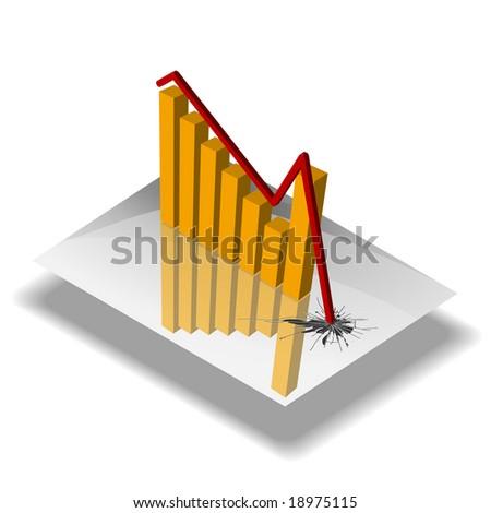 Economy graph CRUSH - stock vector