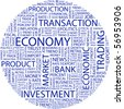ECONOMY. Word collage on white background. Vector illustration. - stock vector