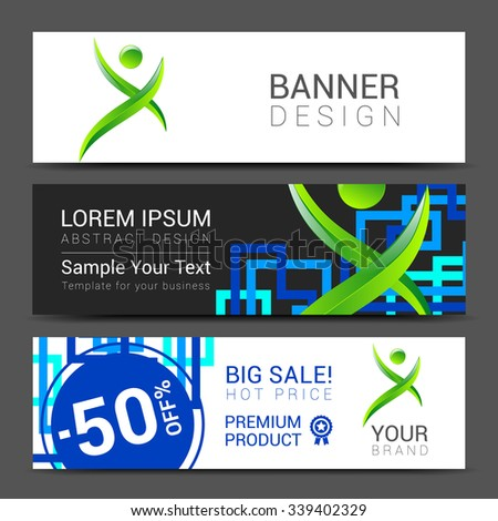 ector design technology for Cover Report Annual Brochure Flyer Poster Business cards collection, people crowd design. - stock vector